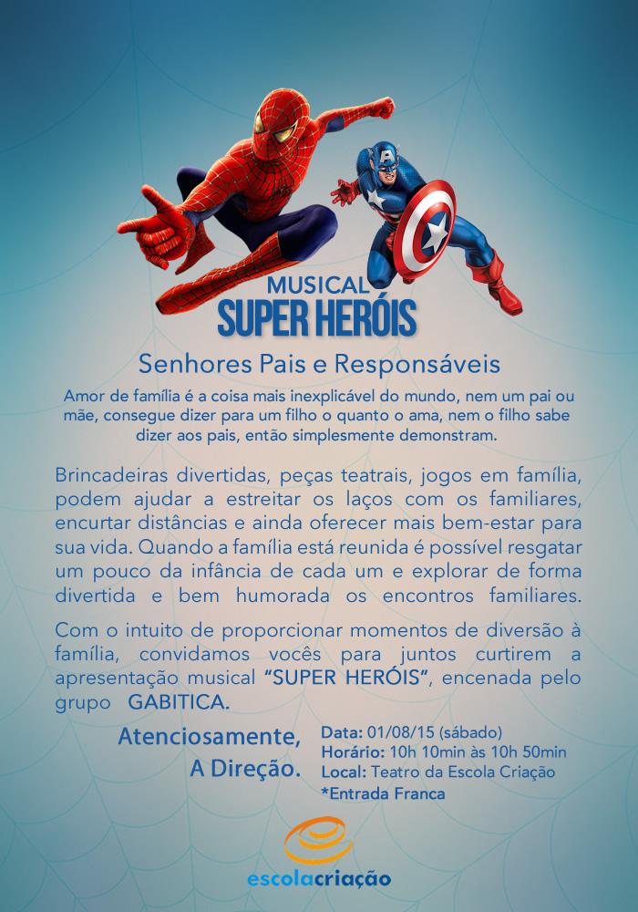 Musical Super Heróis | Escola Criação