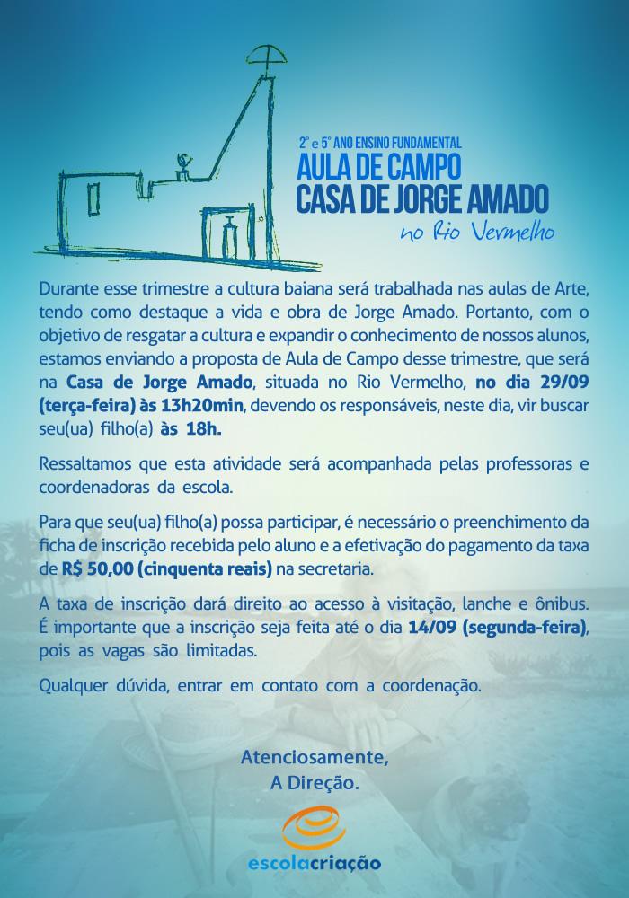 Aula de Campo | Casa de Jorge Amado