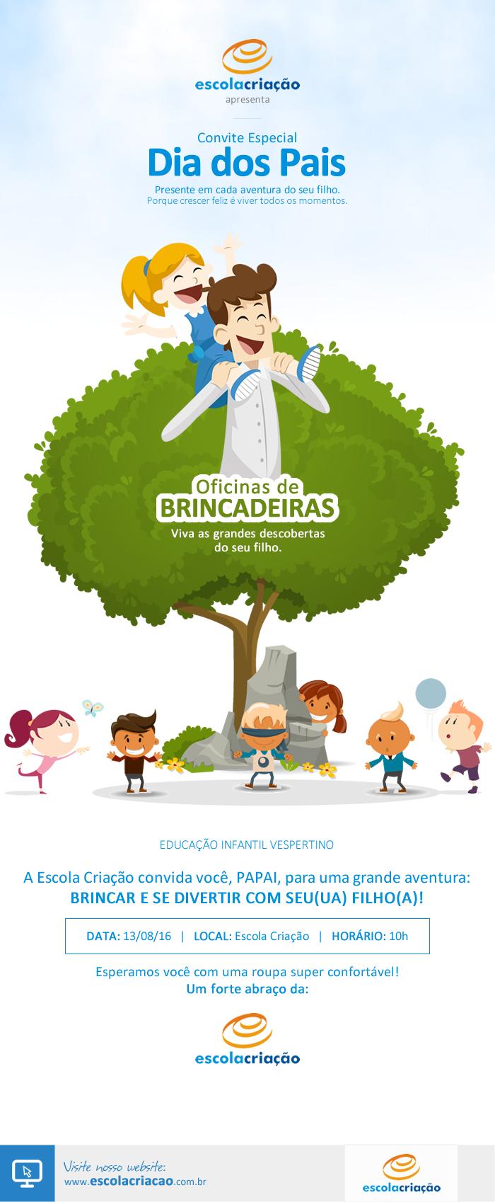 Educação Infantil   Dia dos Pais 2016   Escola Criação